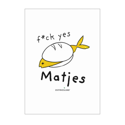Motiv: Poster A1 - f*ck yes Matjes