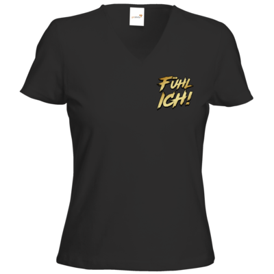 Motiv: T-Shirts Damen V-Neck FAIR WEAR - Fühl Ich!