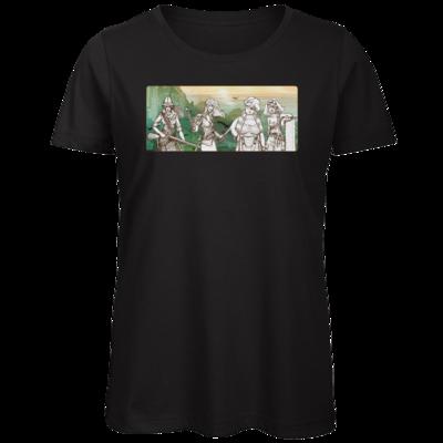 Motiv: Organic Lady T-Shirt - Robinson Crusoe - Frauenpower