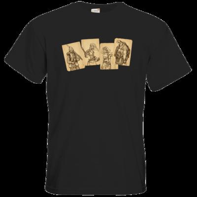 Motiv: T-Shirt Premium FAIR WEAR - Robinson Crusoe - Karten