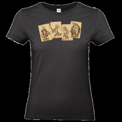 Motiv: T-Shirt Damen Premium FAIR WEAR - Robinson Crusoe - Karten