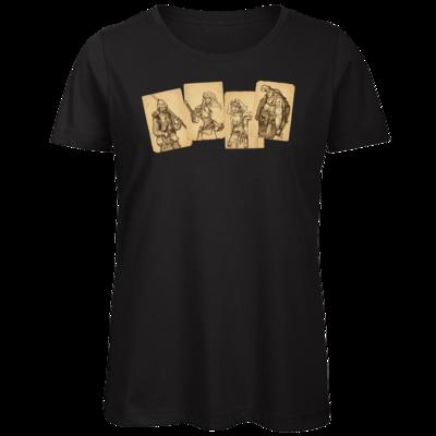 Motiv: Organic Lady T-Shirt - Robinson Crusoe - Karten