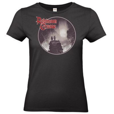 Motiv: T-Shirt Damen Premium FAIR WEAR - Robinson Crusoe - Logo