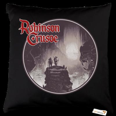 Motiv: Kissen Baumwolle - Robinson Crusoe - Logo