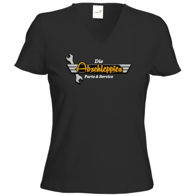 Motiv: T-Shirt Damen V-Neck Classic - Abschleppis