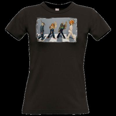 Motiv: T-Shirt Damen Premium FAIR WEAR - Abbey Road