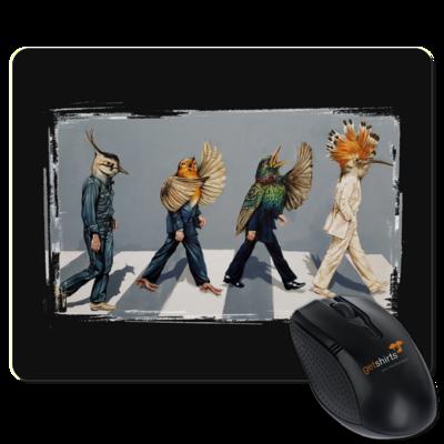 Motiv: Mousepad Textil - Abbey Road