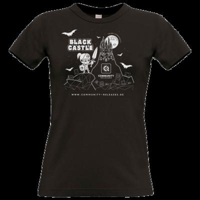 Motiv: T-Shirt Damen Premium FAIR WEAR - Black Castle