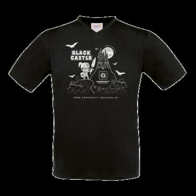 Motiv: T-Shirt V-Neck FAIR WEAR - Black Castle
