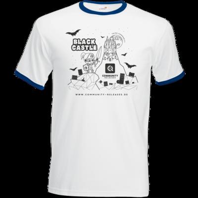 Motiv: T-Shirt Ringer - Black Castle