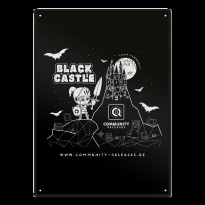 Motiv: Metallschild - Black Castle