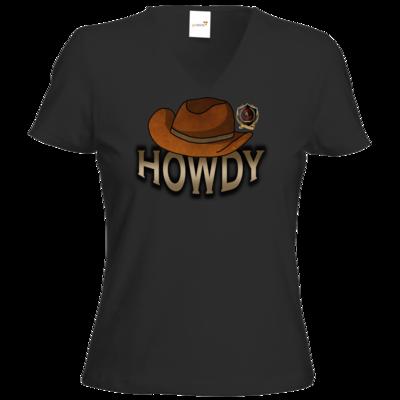 Motiv: T-Shirt Damen V-Neck Classic - Howdy-Hut