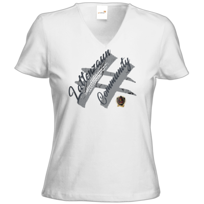 Motiv: T-Shirt Damen V-Neck Classic - LattenzaunCommunity