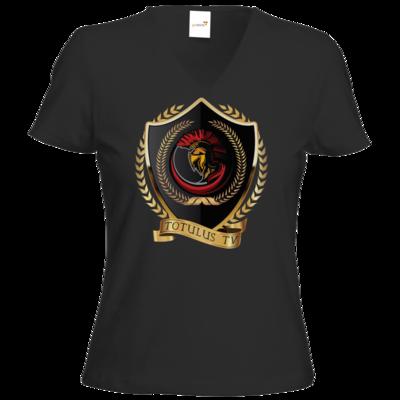 Motiv: T-Shirt Damen V-Neck Classic - Totulus_tv Logo