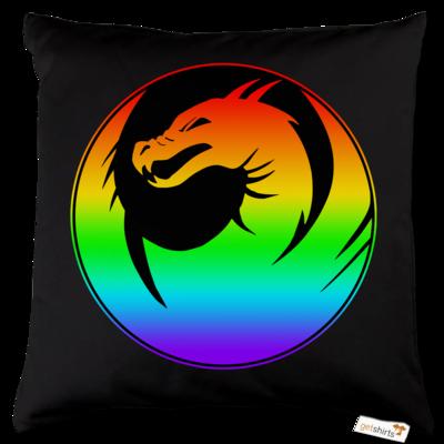 Motiv: Kissen Baumwolle - Drabu Rainbow Logo