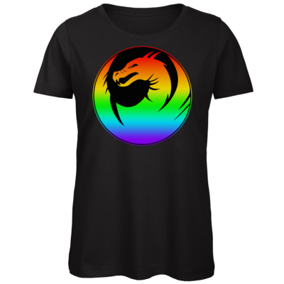 Motiv: Organic Lady T-Shirt - Drabu Rainbow Logo