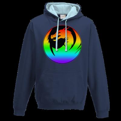 Motiv: Two-Tone Hoodie - Drabu Rainbow Logo
