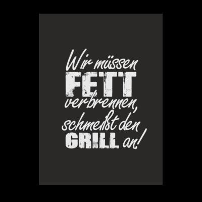 Motiv: Poster A1 - SizzleBrothers - Grillen - Fett verbrennen