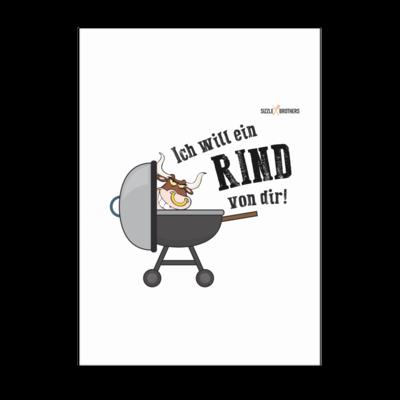 Motiv: Poster A1 - SizzleBrothers - Grillen - Ich will ein Rind