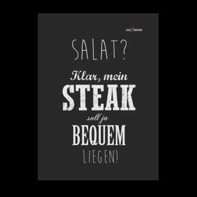 Motiv: Poster A1 - SizzleBrothers - Grillen - Salat Steak bequem