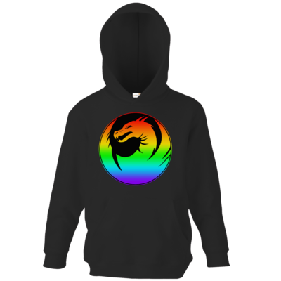 Motiv: Kids Hooded Sweat - Drabu Rainbow Logo