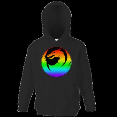 Motiv: Kids Hooded Sweat - Drabu Rainbow Logo