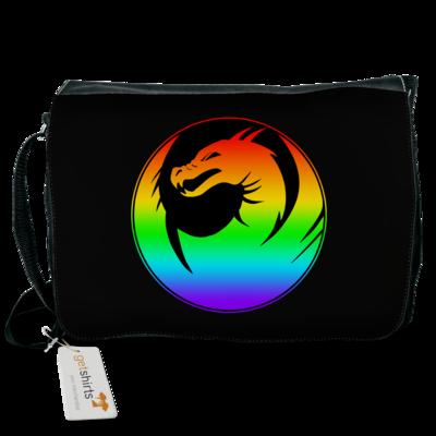 Motiv: Schultertasche - Drabu Rainbow Logo