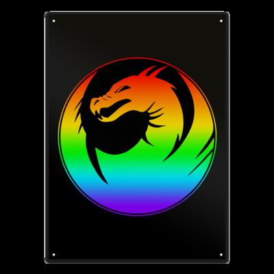 Motiv: Metallschild - Drabu Rainbow Logo