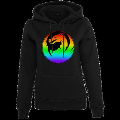 Motiv: Womens Heavy Hoody - Drabu Rainbow Logo