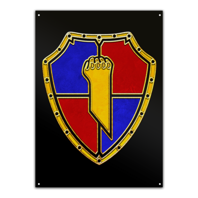 Motiv: Metallschild - Wappen