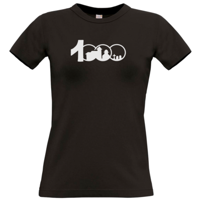 Motiv: T-Shirt Damen Premium FAIR WEAR - Logo 1000 Jahre