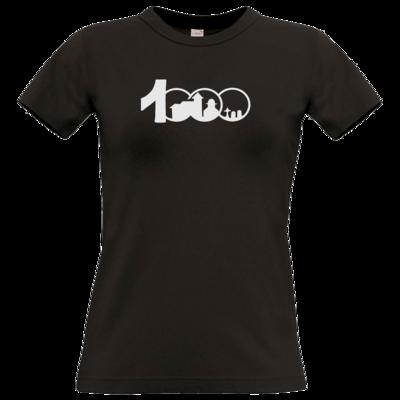 Motiv: T-Shirt Damen Premium FAIR WEAR - Logo 1000 Jahre