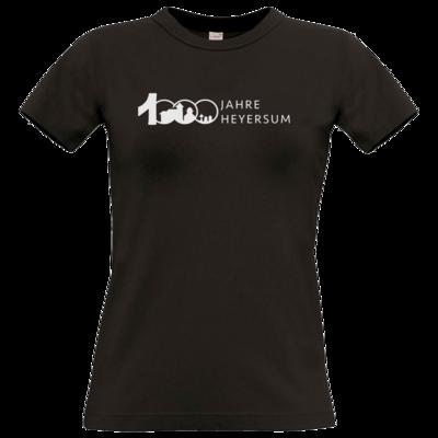 Motiv: T-Shirt Damen Premium FAIR WEAR - Logo 1000 Jahre - Schrift Seite