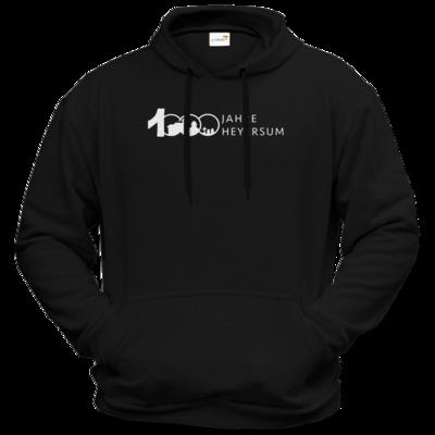 Motiv: Hoodie Premium FAIR WEAR - Logo 1000 Jahre - Schrift Seite