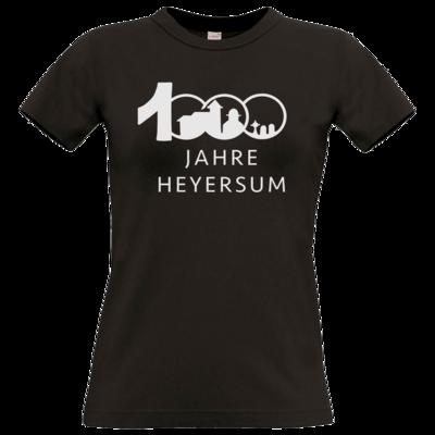 Motiv: T-Shirt Damen Premium FAIR WEAR - Logo 1000 Jahre - Schrift unten
