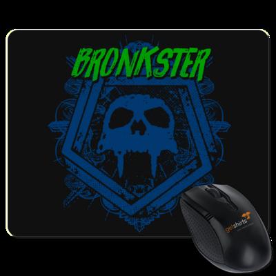 Motiv: Mousepad Textil - Bronkster (green/blue)