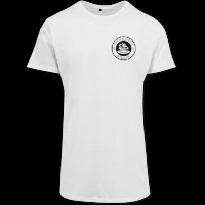 Motiv: Shaped Long Tee - Logo schwarz weiss