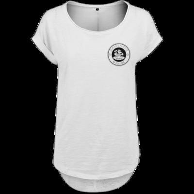 Motiv: Ladies Long Slub Tee - Logo schwarz weiss