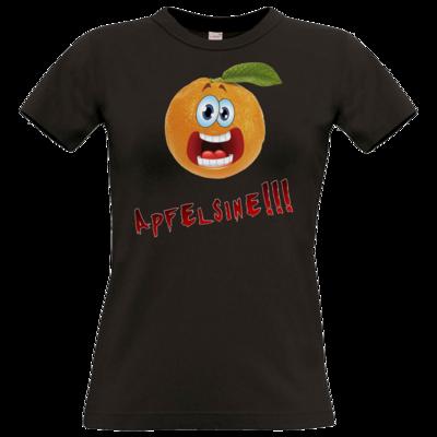 Motiv: T-Shirt Damen Premium FAIR WEAR - Apfelsine Shirt