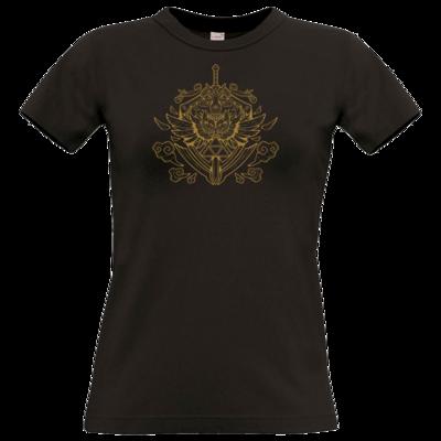 Motiv: T-Shirt Damen Premium FAIR WEAR - Hyrule_Gold