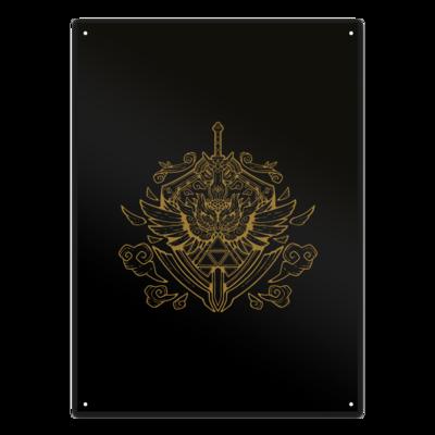 Motiv: Metallschild - Hyrule_Gold