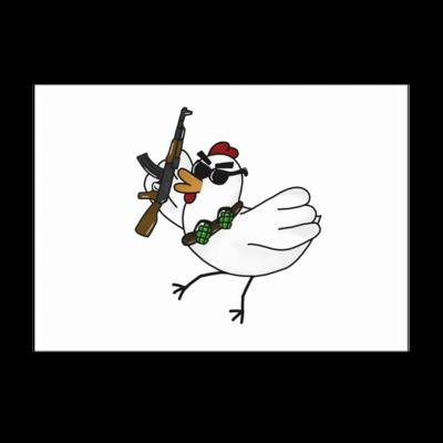 Motiv: Poster A1 - Terrorhuhn
