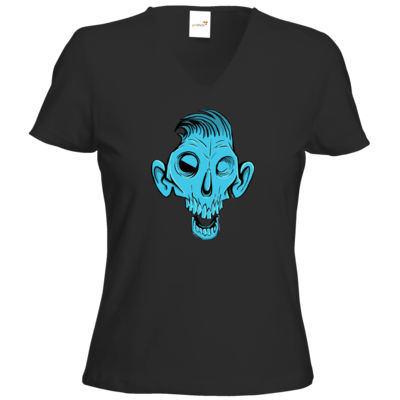 Motiv: T-Shirts Damen V-Neck FAIR WEAR - Toms Shirt - Zombie