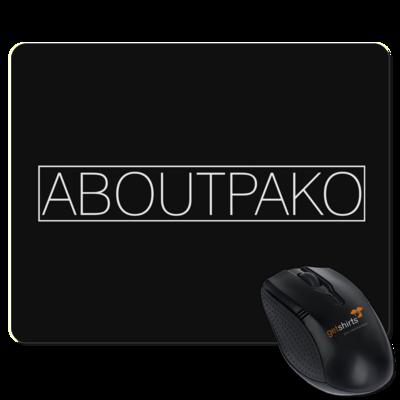 Motiv: Mousepad Textil - AboutPako Schriftzug