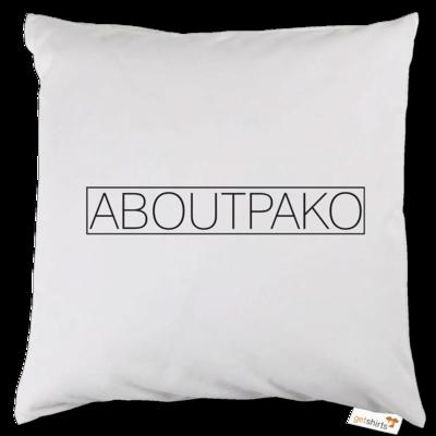 Motiv: Kissen - AboutPako Schriftzug