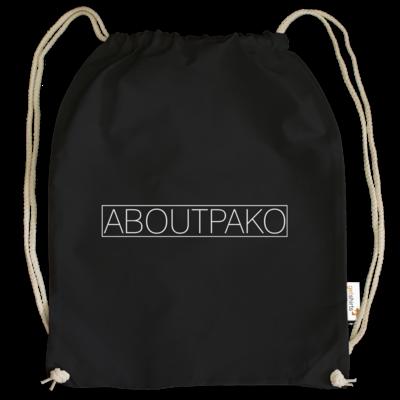 Motiv: Cotton Gymsac - AboutPako Schriftzug