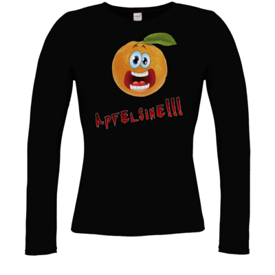 Motiv: Longsleeve Damen Organic - Apfelsine Shirt