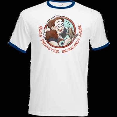 Motiv: T-Shirt Ringer - Monster-Liebe-2