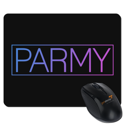 Motiv: Mousepad Textil - Parmy Schriftzug