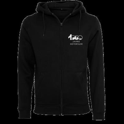 Motiv: Heavy Zip-Hoodie - Logo 1000 Jahre - Schrift unten